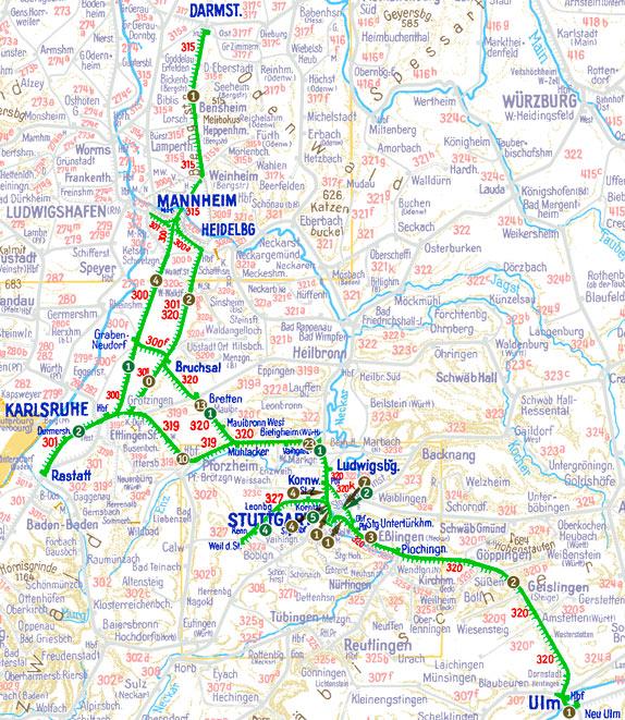 Einsatzgebiet E 94 Bw Kornwestheim