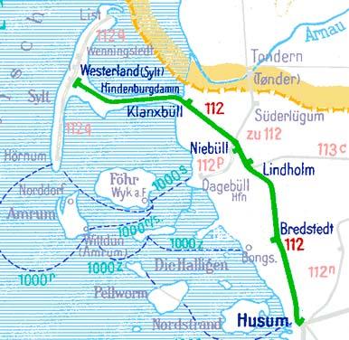 Husum-Westerland-Karte